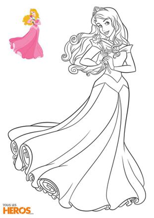 coloriage aurore disney
