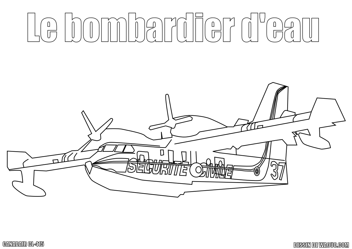 coloriage bombardier