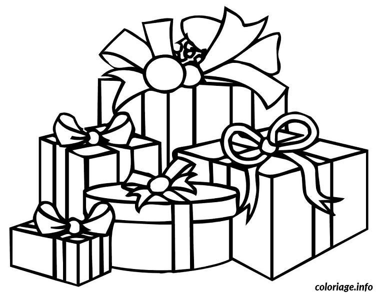 coloriage cadeaux de noel