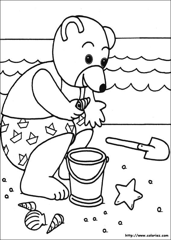 coloriage de petit ours brun
