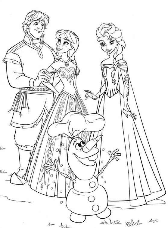 coloriage disney la reine des neiges