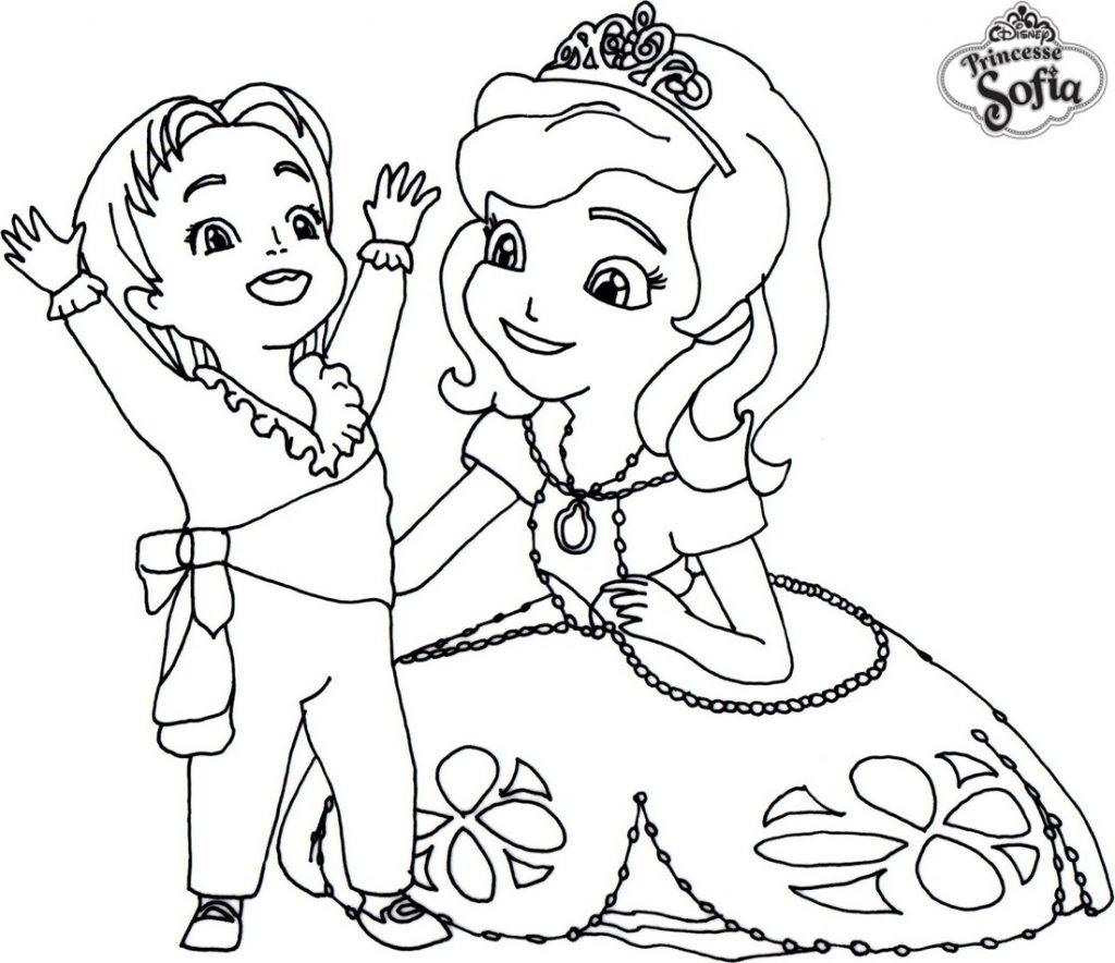coloriage en ligne princesse sofia