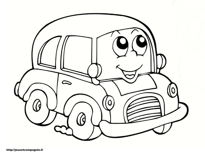 coloriage enfant voiture