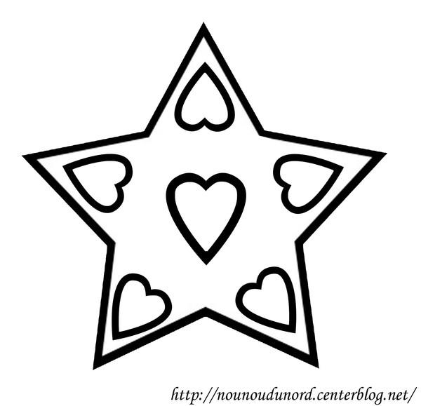 coloriage étoile noel