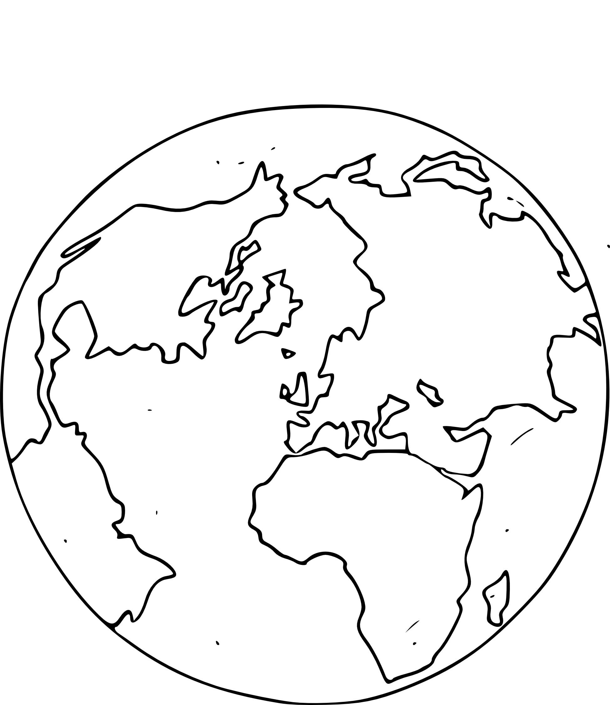 coloriage globe terrestre