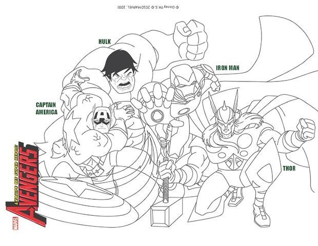 coloriage gratuit avengers
