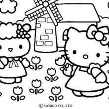 coloriage hello kitty gratuit