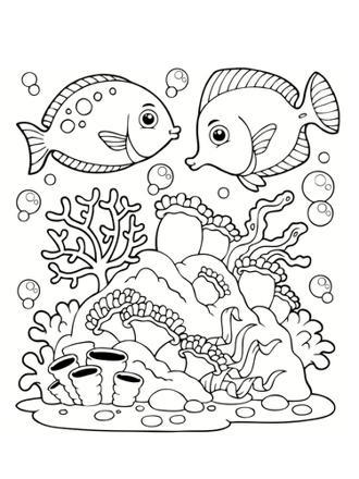 coloriage la mer