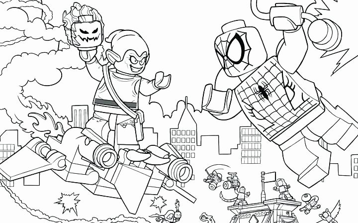 coloriage lego spiderman