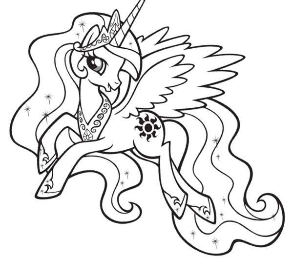 coloriage my little pony princesse luna