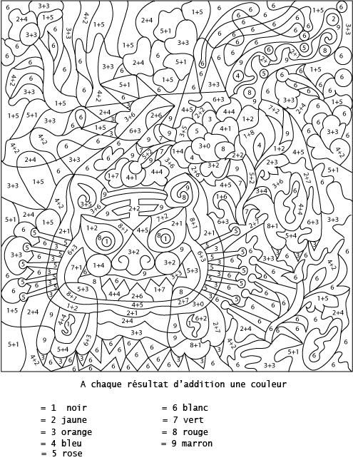 coloriage numeroté