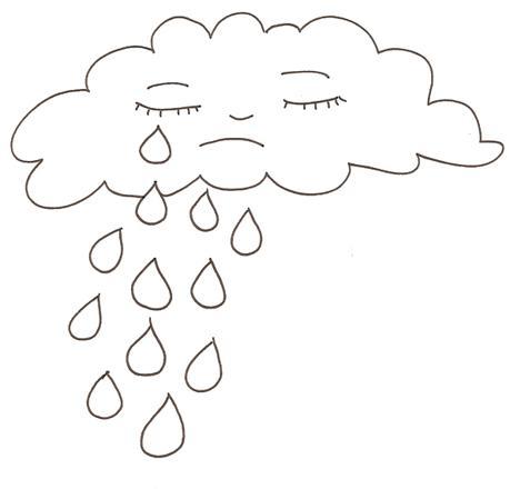 coloriage pluie