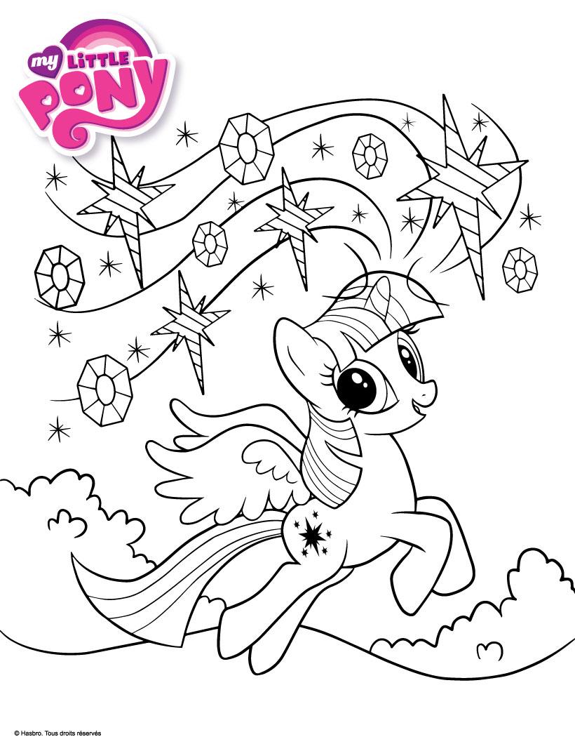 coloriage princesse celestia