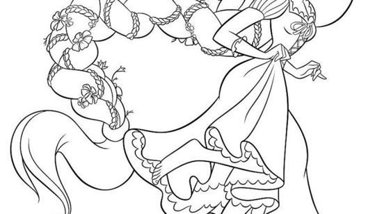 coloriage raiponce disney