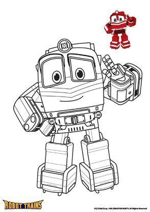 coloriage robot train