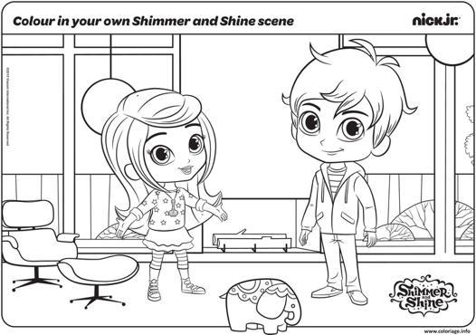 coloriage shimmer et shine