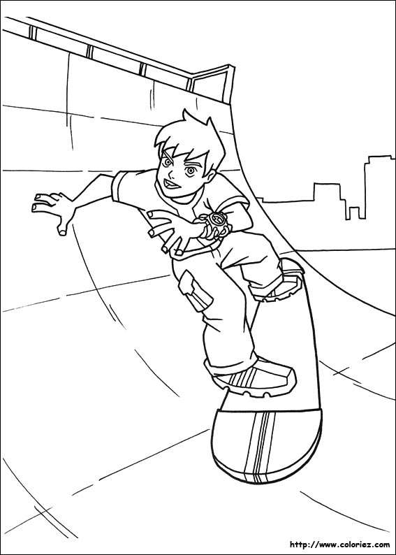 coloriage skate