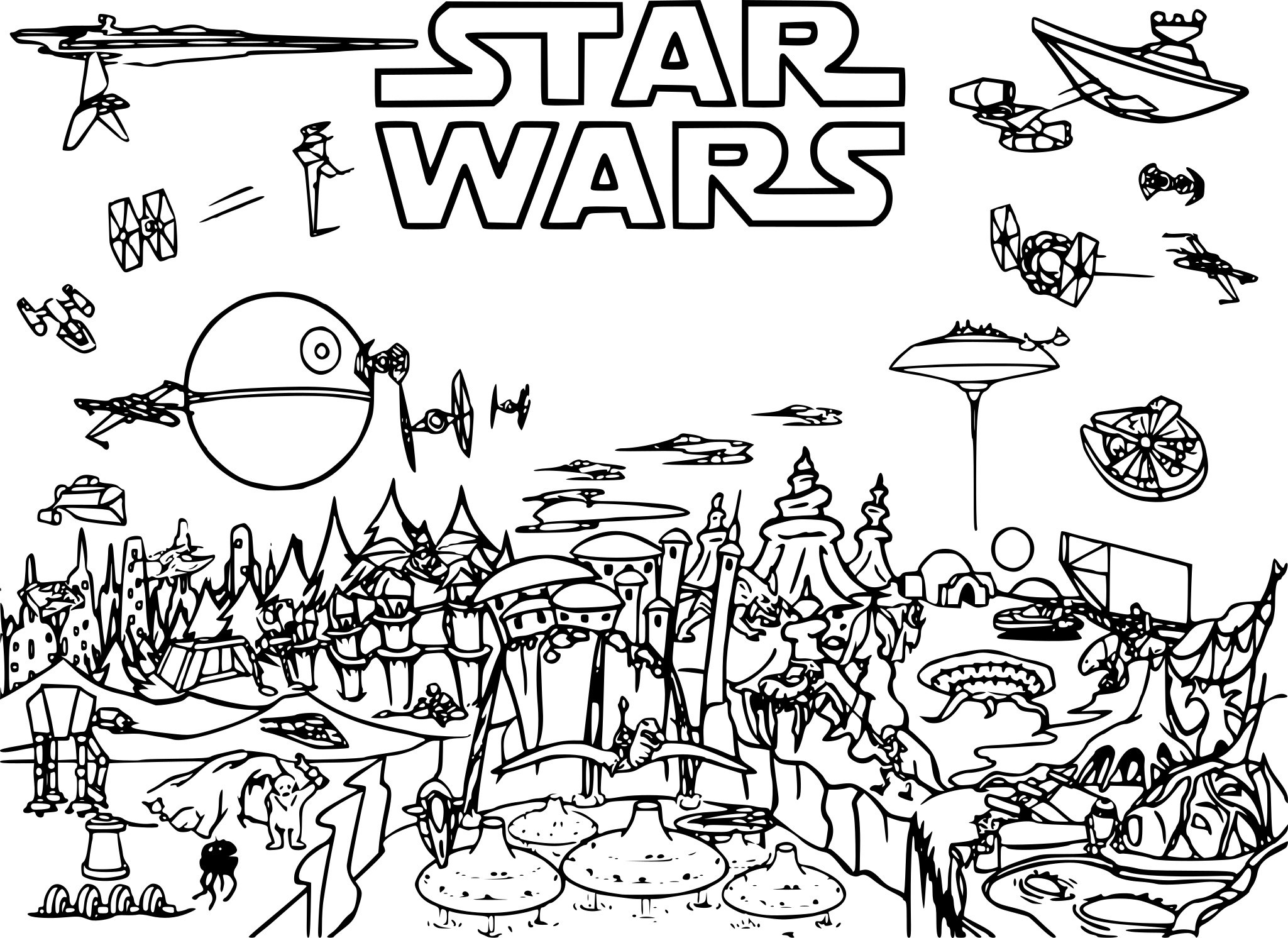 coloriage star wars 3