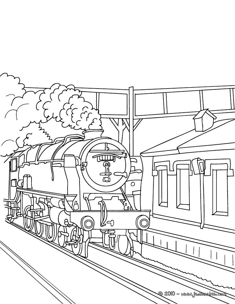 coloriage train a vapeur