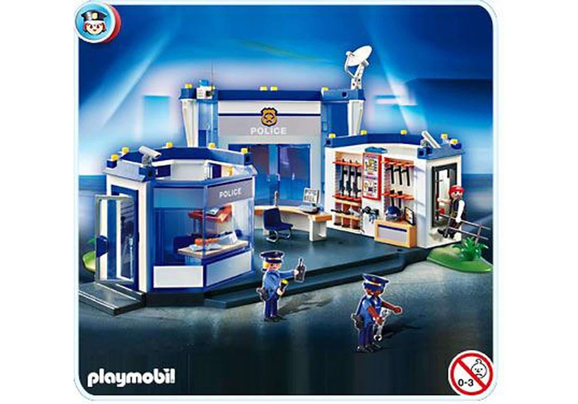 commissariat police playmobil 4264