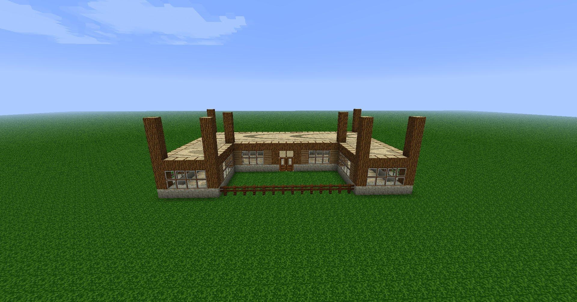 construction minecraft maison