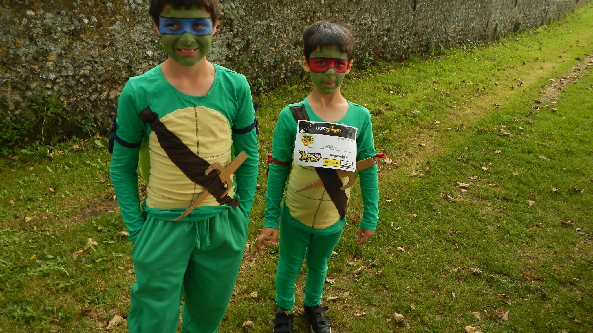 costume tortue ninja fait maison