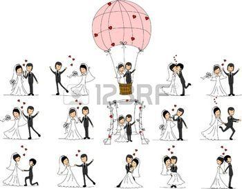 couple de mariés dessin