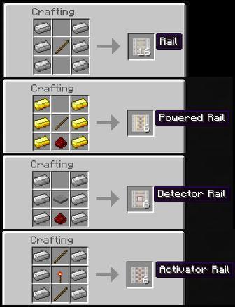 craft rail minecraft