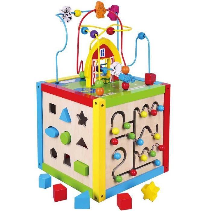 cube multi activités bois