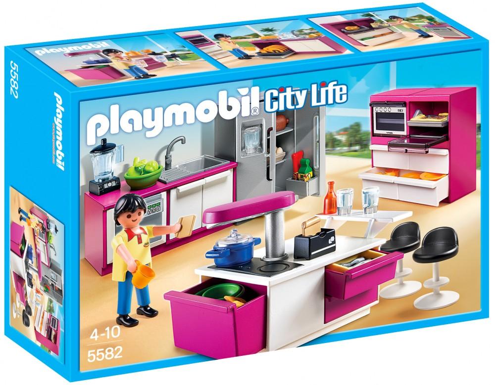cuisine maison moderne playmobil