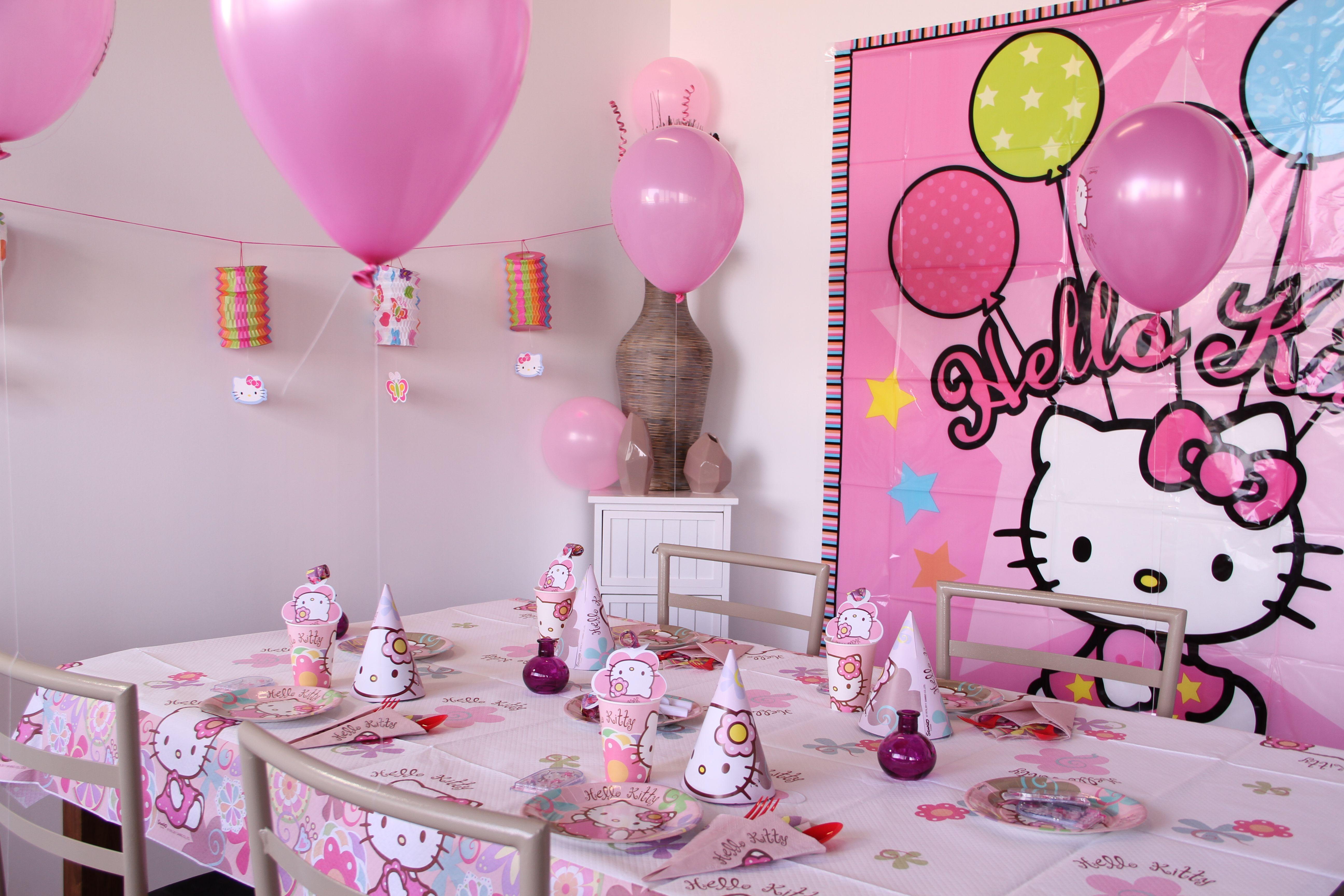 deco hello kitty anniversaire
