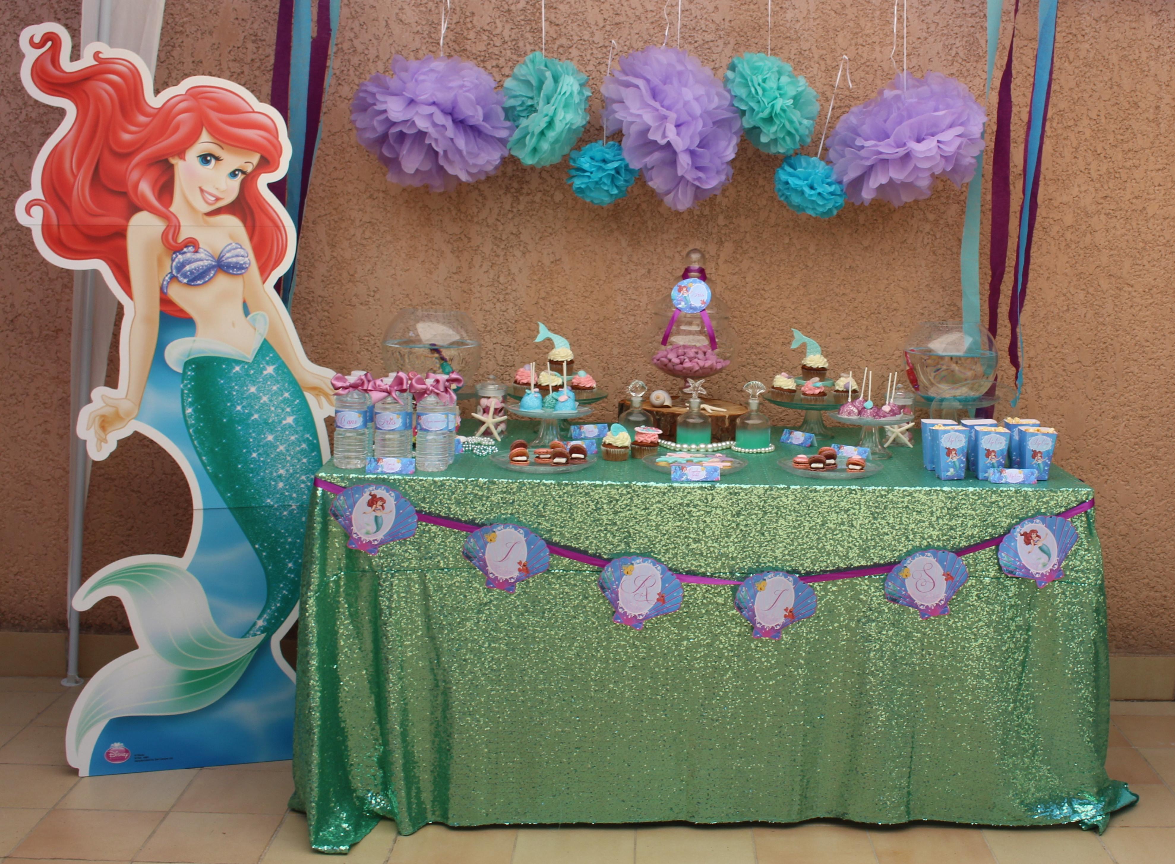 decoration anniversaire ariel