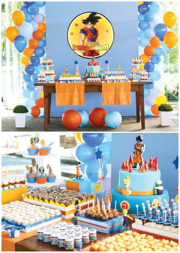 decoration anniversaire dragon ball z