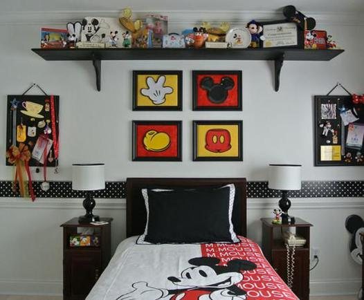 decoration mickey chambre