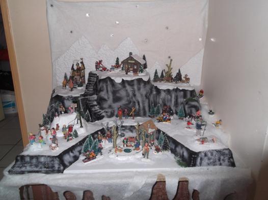décoration village de noel miniature