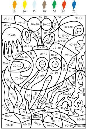 dessin à colorier avec numéro