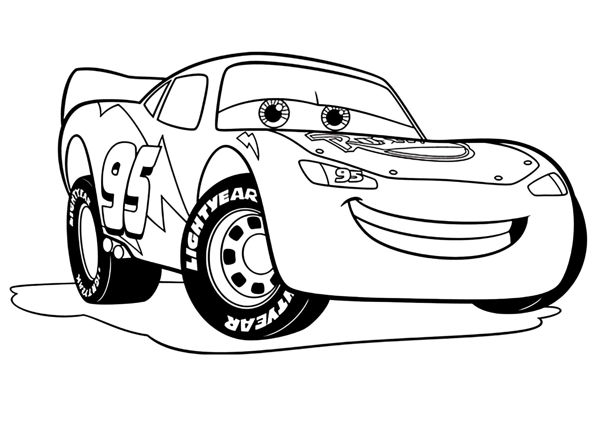 dessin à colorier cars