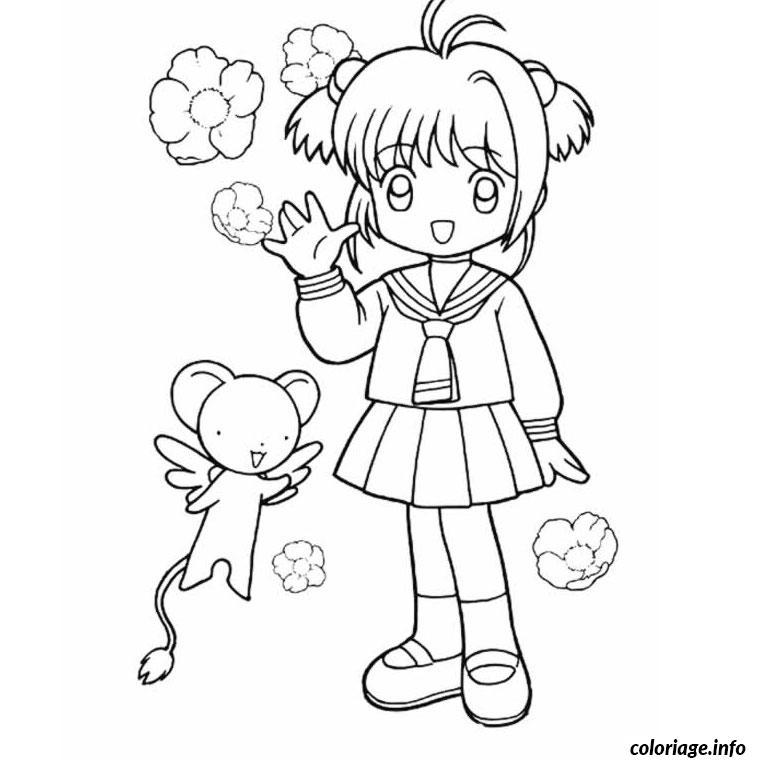 dessin a colorier de fille