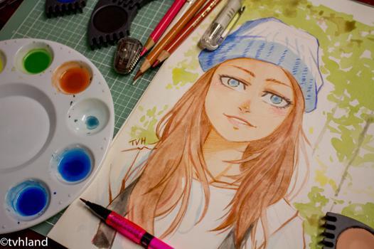 dessin avec la peinture