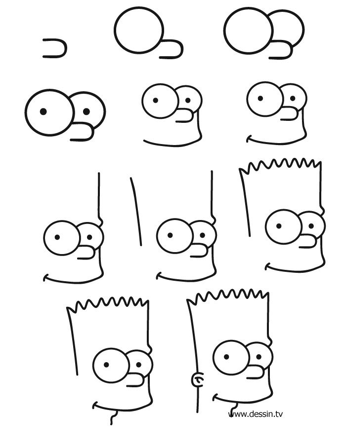 dessin bart simpson