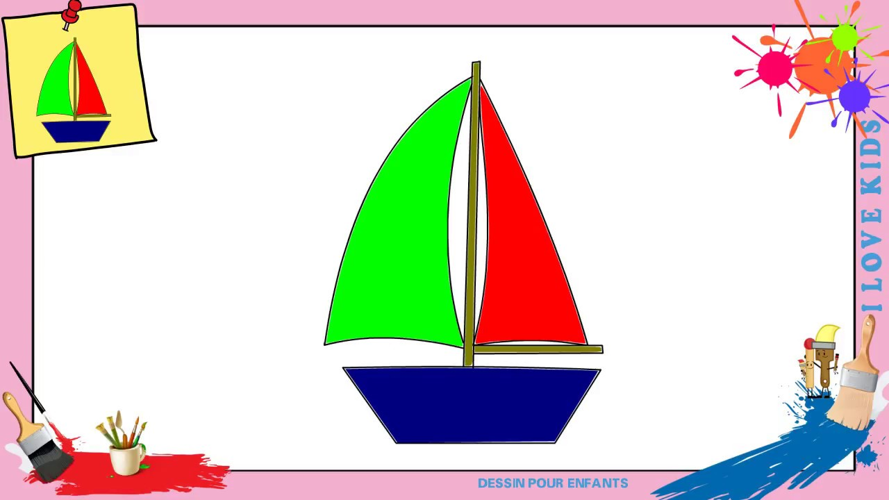 dessin bateau enfant