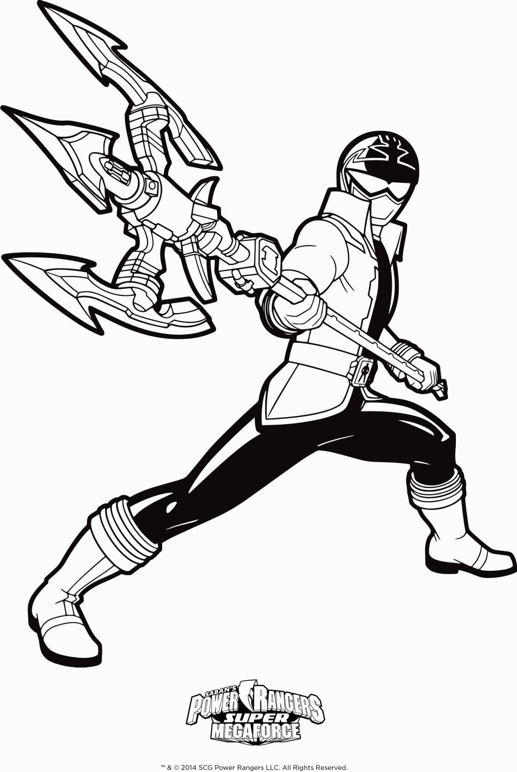 dessin de power rangers megaforce