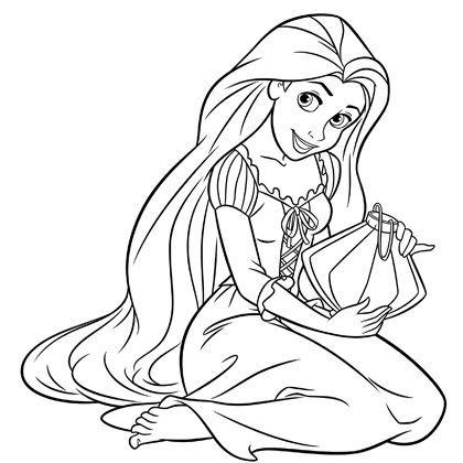 dessin de princesse raiponce