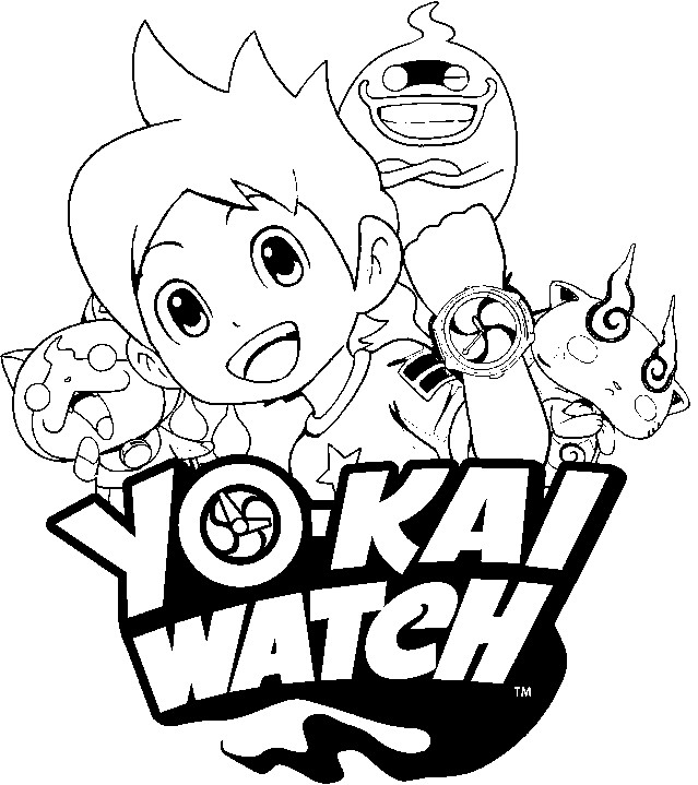 dessin de yo kai watch