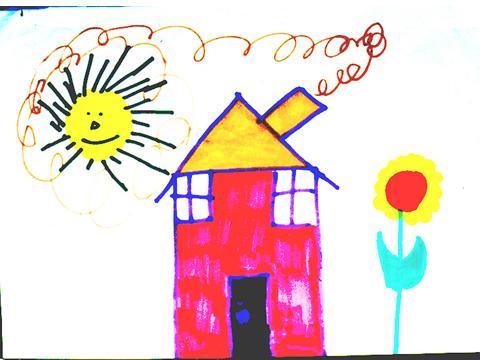dessin enfant maison