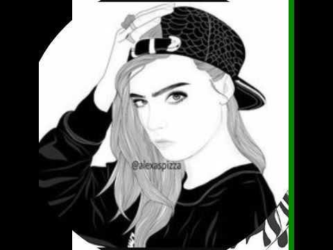dessin fille noir et blanc