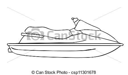 dessin jet ski