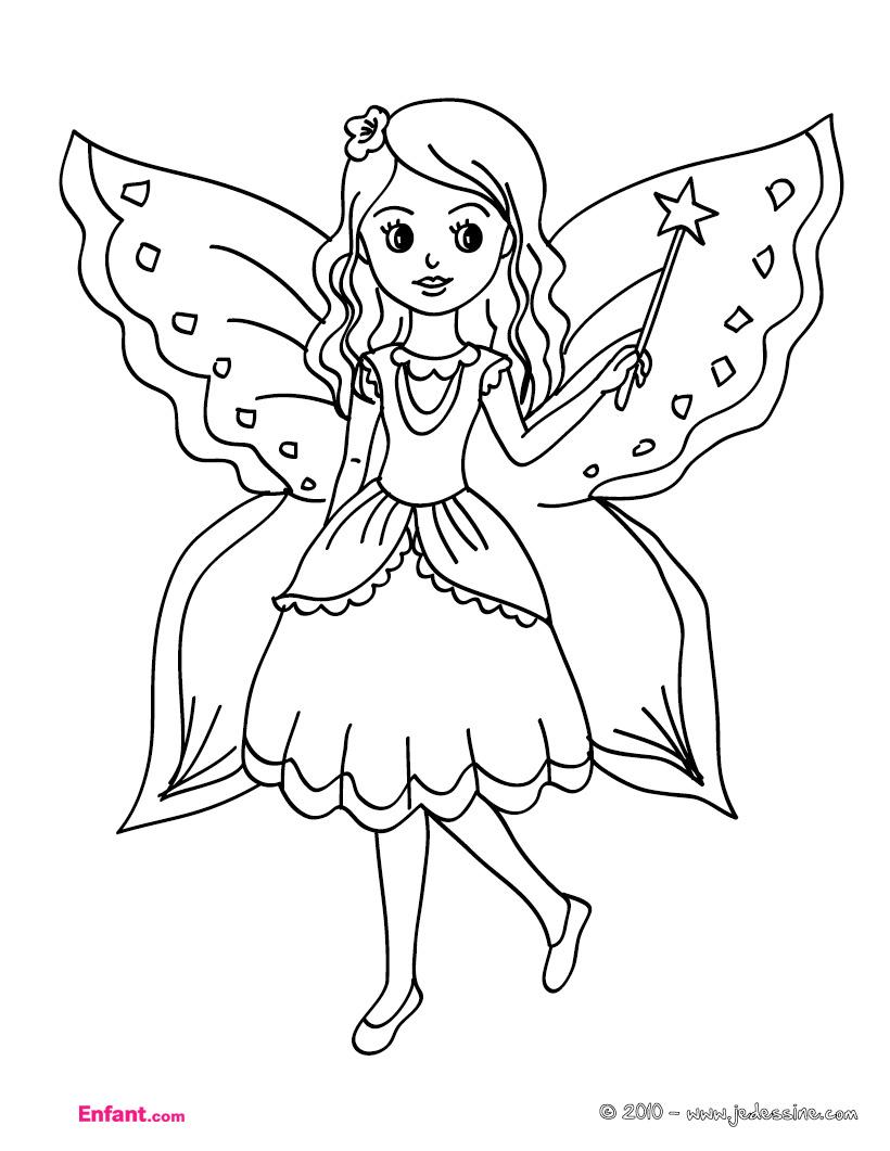 dessin pour colorier pour fille