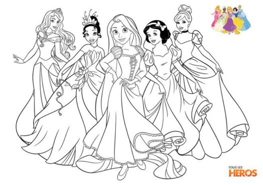 dessin princesses