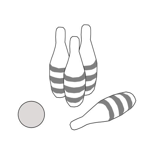 dessin quille de bowling
